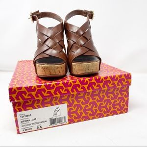 Tory Burch Ace High Wedge Sandal in Size 6.5